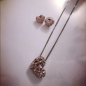 Swarovski Silverl Necklace  and Earrings